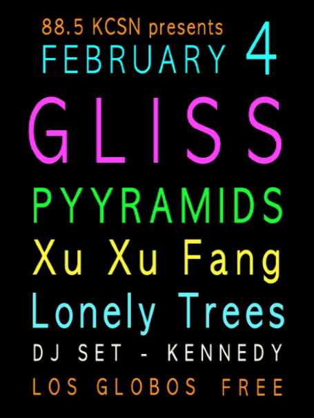 Gliss Record Release show Line-Up