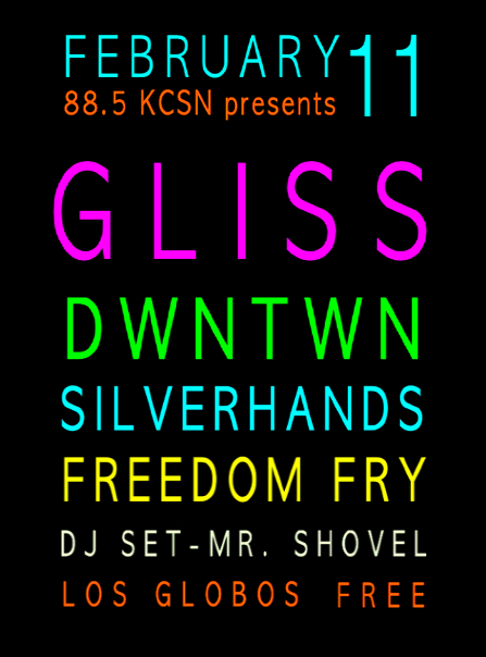 Gliss residency Week 2 Line-Up